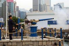 Arma de Noonday, bahía del terraplén, Hong-Kong Imagen de archivo