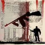 Arma de Tommy Grunge Fotografía de archivo libre de regalías