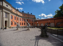 Arma defensivo en un kastell de Vaxholms de la fortaleza, Estocolmo suecia Imagenes de archivo