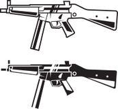 Arma del ejército línea estilo Fotografía de archivo