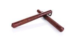 Arma del nunchaku de los artes marciales Foto de archivo libre de regalías