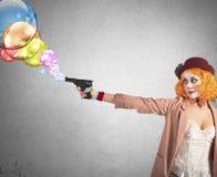 A arma dispara em bolhas Imagens de Stock Royalty Free