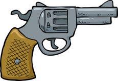 Arma do revólver dos desenhos animados ilustração do vetor
