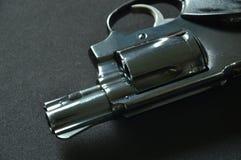Arma do revólver no fundo preto da tela Imagens de Stock Royalty Free