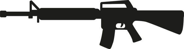 Arma do rifle de atirador furtivo ilustração do vetor