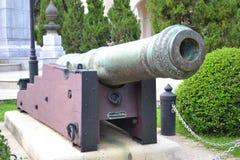 A arma do vintage em épocas antigas, usa a batalha foto de stock royalty free