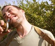 Arma e homem Foto de Stock Royalty Free