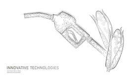 Arma ecológica do combustível biológico do milho Conceito de salvaguarda do eco do negócio do planeta da energia renovável do pod ilustração do vetor