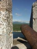 Arma en Castillo del Morro Fotos de archivo