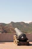 Arma en el castillo de la ciudad Foto de archivo libre de regalías