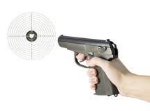 Arma en su mano Foto de archivo libre de regalías