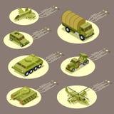 Arma isometrica dell'armatura dell'illustrazione infographic di vettore royalty illustrazione gratis