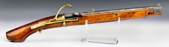 Arma japonés antiguo de la llave de mosquete Fotos de archivo libres de regalías