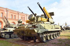 Arma-míssil antiaéreo 2K22 complexo Tunguska Foto de Stock Royalty Free