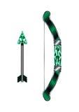 Arma medieval de la flecha y del arco Fotografía de archivo libre de regalías