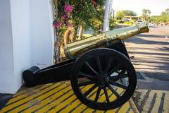 Arma metálico del cañón antiguo Foto de archivo