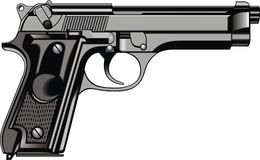 Arma moderno de la mano (pistola) stock de ilustración