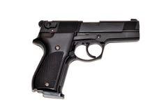 Arma negro aislado en blanco Fotos de archivo
