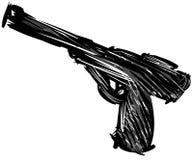 Arma negro estilizado aislado Imagenes de archivo