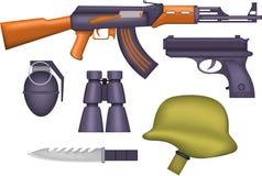 A arma padrão das forças armadas Ilustração do Vetor
