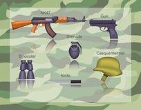 Arma padrão das forças armadas/exército Ilustração Stock