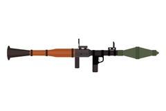 Arma pesada da espingarda de assalto do vetor com ícone do lançador de granadas ilustração do vetor