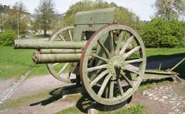 Arma portuguesa da artilharia do vintage na exposição em Lisboa, Portugal Imagens de Stock
