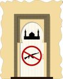 Arma proibida entrada da mesquita Imagem de Stock Royalty Free