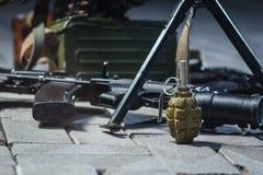 Arma soviética do russo: pilha da arma Fotografia de Stock Royalty Free