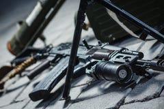 Arma soviética do russo: pilha da arma Fotografia de Stock