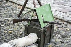 Arma vieja de la guerra Fotografía de archivo libre de regalías
