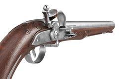 Arma vieja del arma de la pistola, visión cercana stock de ilustración