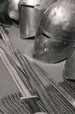 Arma y armadura caballerescas Fotografía de archivo libre de regalías