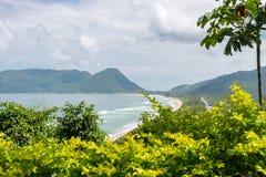 Armacao海滩在弗洛里亚诺波利斯,圣卡塔琳娜州,巴西 免版税库存图片
