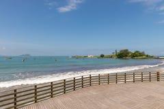 Armacao海滩在弗洛里亚诺波利斯,圣卡塔琳娜州,巴西 免版税库存照片