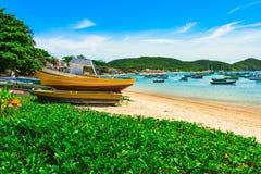Armacao海滩在Buzios,里约热内卢 库存图片
