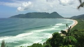 Armacao beach in Florianopolis, Brazil stock video
