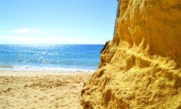 Armacao de Pera Beach στο Αλγκάρβε Στοκ φωτογραφίες με δικαίωμα ελεύθερης χρήσης