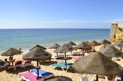 Armacao de Pera Beach στο Αλγκάρβε Στοκ εικόνες με δικαίωμα ελεύθερης χρήσης