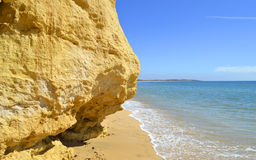 Armacao De Pera Beach on the Algarve coast Stock Images