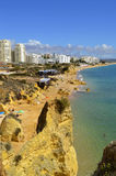 Armacao De Pera Beach on the Algarve in Portugal Stock Image