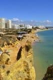 Armacao DE Pera Beach op Algarve in Portugal Stock Afbeelding