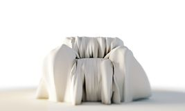 Armachair with white sheet Royalty Free Stock Photography