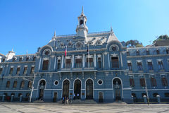 Armada de Chile building at Plaza Sotomayor in Valparaiso, Chile Stock Photography