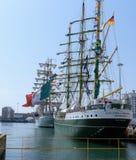 Armada navale a Cadice fotografie stock
