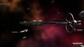 Armada space fleet stock video
