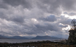 Armadale, Clouds and sea Royalty Free Stock Photos