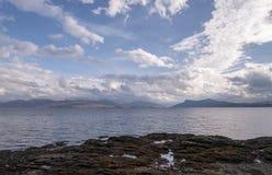 Armadale, Island of Skye, Scotland. Armadale, Island of Skye, sea and clouds Royalty Free Stock Photos