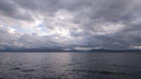 Armadale, Skye Island, Scotland. Sea and clouds, Armadale, Skye Island, Scotland Royalty Free Stock Images