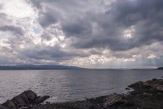 Armadale, Skye Island, Scotland. Sea and clouds, Armadale, Skye Island, Scotland Stock Image